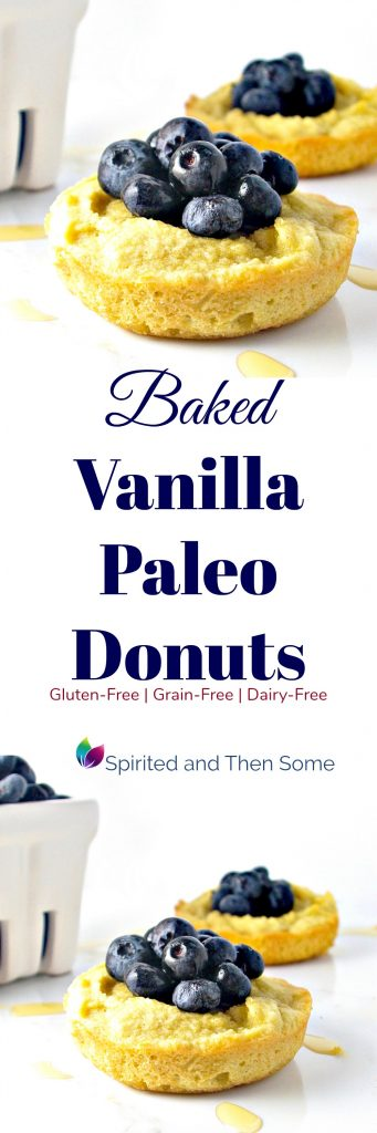Baked Vanilla Paleo Donuts are deliciously sweet, gluten-free, grain-free, and dairy-free, too! | spiritedandthensome.com