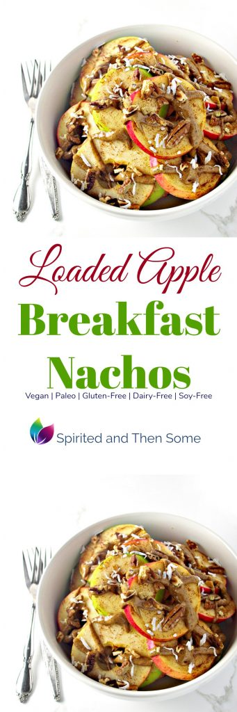 Loaded Apple Breakfast Nachos are paleo and vegan and perfectly delicious for breakfast! | spiritedandthensome.com