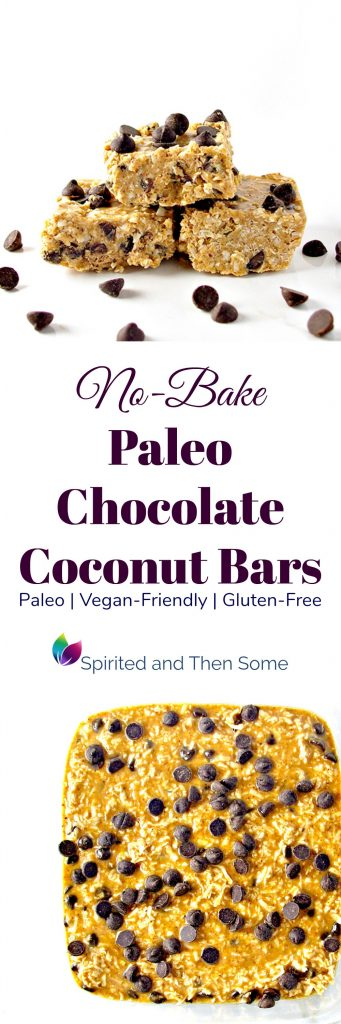 No-Bake Paleo Chocolate Coconut Bars are vegan-friendly, gluten-free, and super easy to make! | spiritedandthensome.com