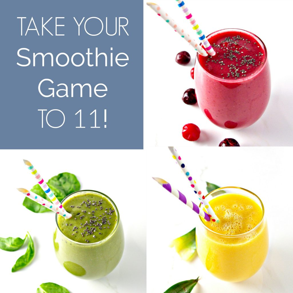 Take your smoothie game to 11 for delicious dairy-free, gluten-free health! Often vegan or paleo! | spiritedandthensome.com