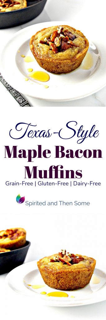 Texas-Style Maple Bacon Muffins are grain-free, gluten-free, and dairy-free, too! | spiritedandthensome.com