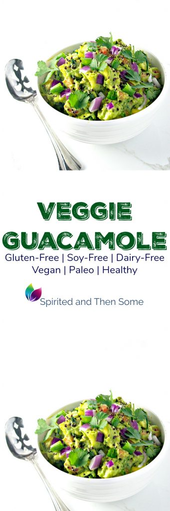 Veggie Guacamole is vegan, paleo, and full of fresh ingredients! {Gluten-Free} | spiritedandthensome.com