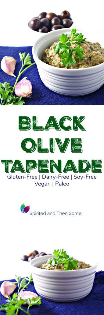 Black Olive Tapenade is gluten-free, dairy-free, soy-free, vegan, and paleo! | spiritedandthensome.com