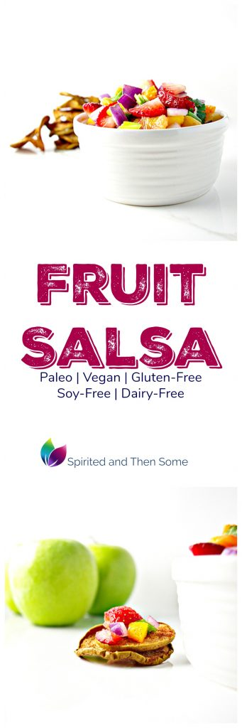 Fruit Salsa is paleo, vegan, gluten-free, soy-free, dairy-free, and full of delicious, succulent flavors! | spiritedandthensome.com