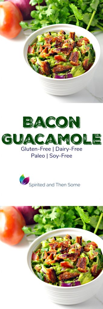 Paleo Bacon Guacamole is full of delicious crunch! | spiritedandthensome.com
