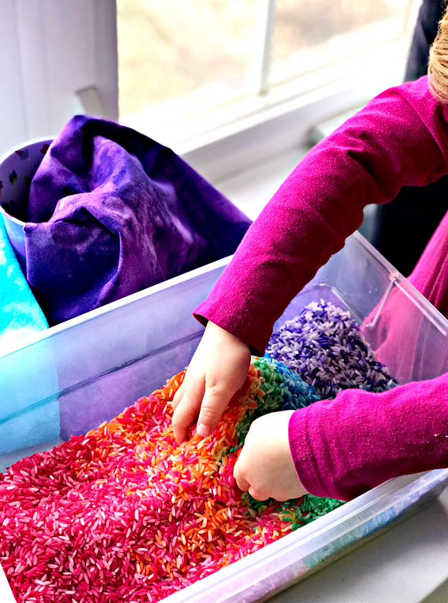 Sensory play ideas for preschoolers sensory bins! | spiritedandthensome.com