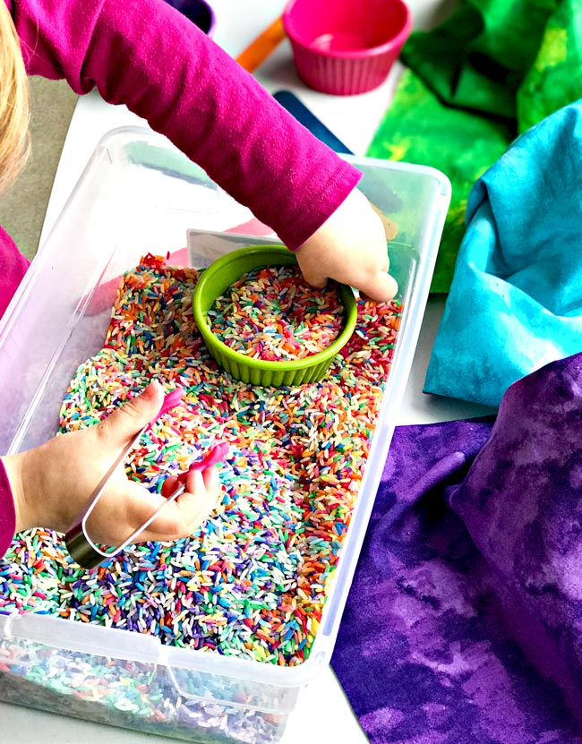 Sensory Play Ideas for Preschoolers with a fine motor skills emphasis! | spiritedandthensome.com