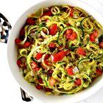 Easy Veggie Noodle Sauté is gluten-free, vegan, paleo, and grain-free, too! | spiritedandthensome.com
