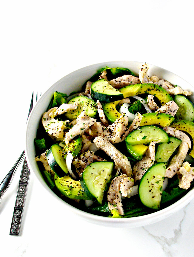 Chicken Avocado Salad is the perfect gluten-free salad recipe for summer! | spiritedandthensome.com