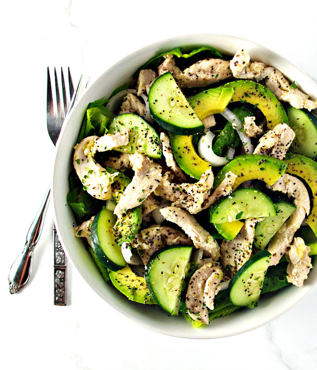 Chicken Avocado Salad is the perfect gluten-free meal for summer! | spiritedandthensome.com