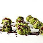 Chocolate-Drizzled Matcha Energy Bites are vegan and paleo-friendly! | spiritedandthensome.com