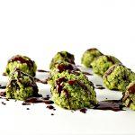 Chocolate-Drizzled Matcha Energy Bites are vegan and paleo-friendly! | spiritedandthensome.com