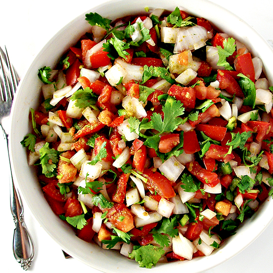Homemade Pico de Gallo is delicious and nutritious! | spiritedandthensome.com