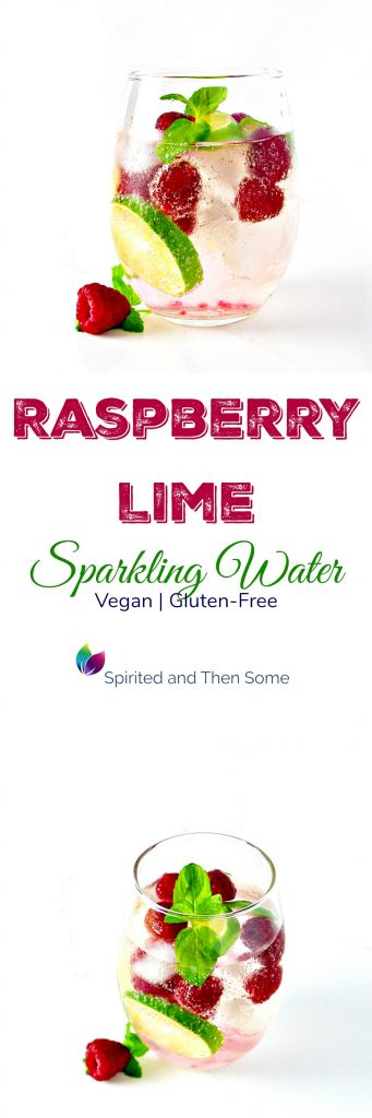 Raspberry Lime Sparkling Water is deliciously thirst-quenching, vegan, and gluten-free! | spiritedandthensome.com