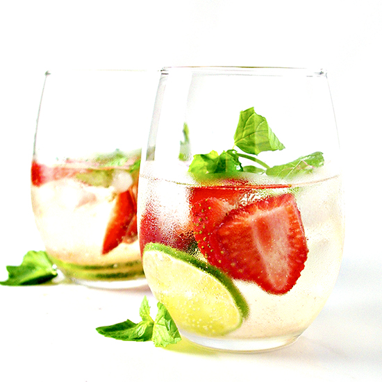 Strawberry Lime Sparkling Water