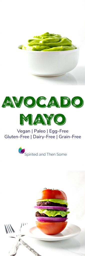 Avocado Mayo is egg-free, vegan, and paleo! Perfect with burgers and veggies! | spiritedandthensome.com
