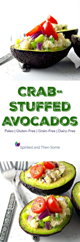 Crab-Stuffed Avocados are a delicious paleo and gluten-free appetizer or quick meal! | spiritedandthensome.com