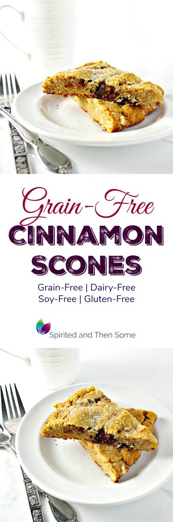 Grain-Free Cinnamon Scones are a delicious dairy-free, soy-free, and gluten-free baked recipe! | spiritedandthensome.com