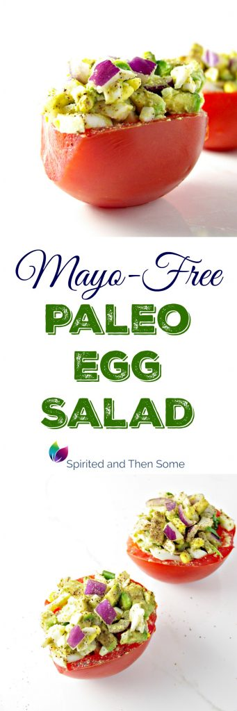 Mayo-Free Paleo Egg Salad is a delicious twist on a traditional egg salad recipe! Gluten-free, dairy-free, grain-free, and YUMMO! | spiritedandthensome.com