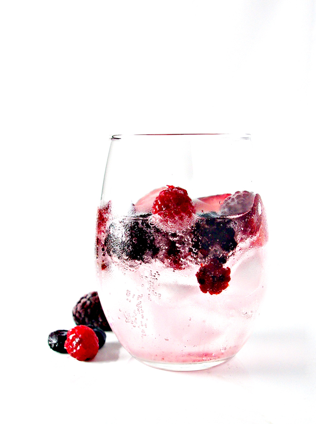 Mixed Berry Sparkling Water is delicious, vegan, and gluten-free! | spiritedandthensome.com