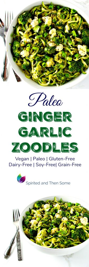 Paleo Ginger Garlic Zoodles are grain-free, gluten-free, dairy-free, paleo, vegan, and totally delicious! | spiritedandthensome.com