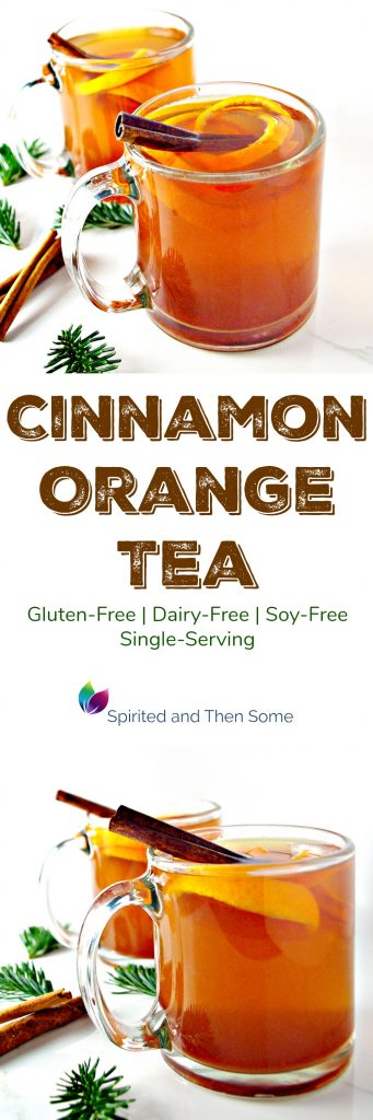 Single-Serving Cinnamon Orange Tea is gluten-free, dairy-free, and soy-free! Warm and comforting, too! | spiritedandthensome.com