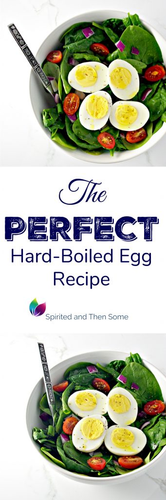 The PERFECT hard-boiled egg recipe, complete with TWO secrets for perfect eggs every time! | spiritedandthensome.com