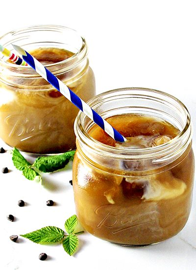 Homemade Iced Coffee is refreshing, delicious, and the perfect start to the day! | spiritedandthensome.com