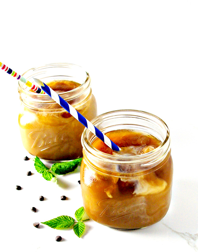 Homemade Iced Coffee can be enjoy straight or with delicious mix-ins for a wonderful vegan and gluten-free beverage! | spiritedandthensome.com