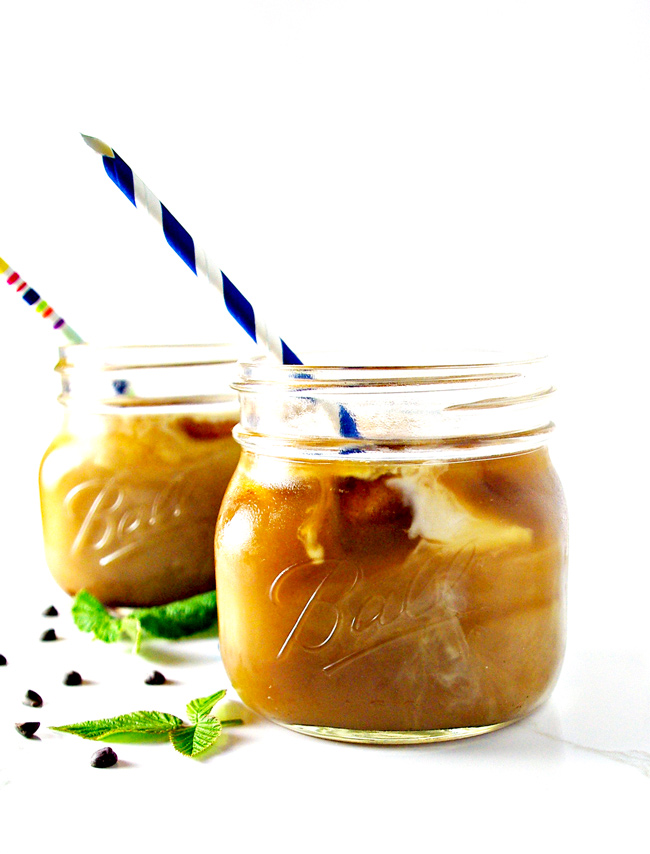 Homemade Iced Coffee is a delicious, refreshing start to the day! VG + GF! | spiritedandthensome.com