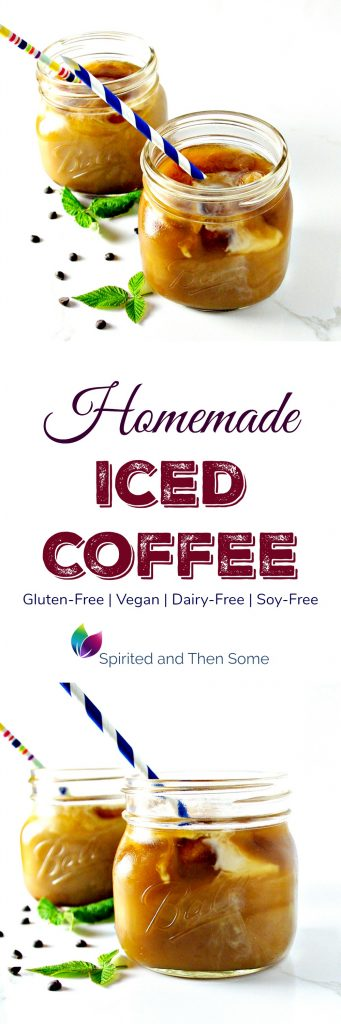 Homemade Iced Coffee is deliciously vegan, gluten-free, soy-free, and perfect for meal (or breakfast!) prep! | spiritedandthensome.com