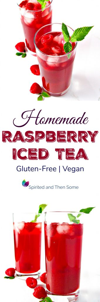 Homemade Raspberry Iced Tea is deliciously vegan, gluten-free, and paleo-friendly. It's also easy to prepare! | spiritedandthensome.com