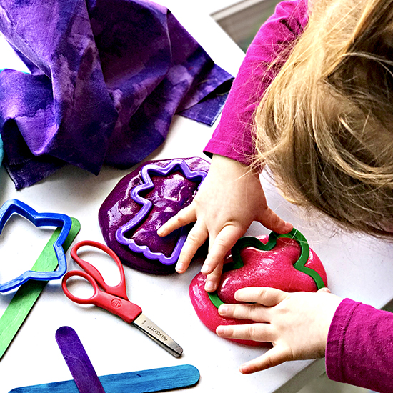 Sensory Play Ideas for Preschoolers Homemade Easy Slime is perfect hands-on play! | spiritedandthensome.com