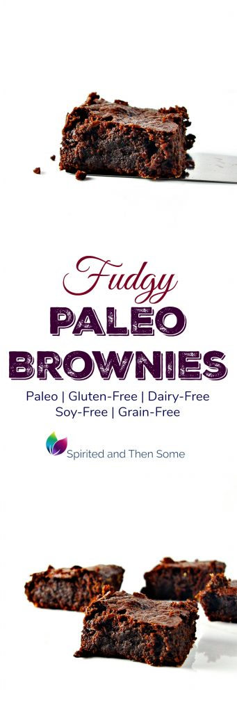 Fudgy Paleo Brownies are so delectable, rich, and creamy you'll never believe they are gluten-free, dairy-free, soy-free, and grain-free, too! | spiritedandthensome.com