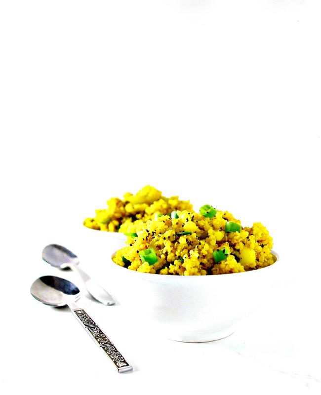 Cauliflower Turmeric Quinoa Bowls are gluten-free, dairy-free, soy-free, and vegan! | spiritedandthensome.com