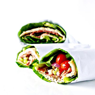 Deli Sandwich Lettuce Wraps are gluten-free and grain-free, and taste like they are straight from the local deli! | spiritedandthensome.com