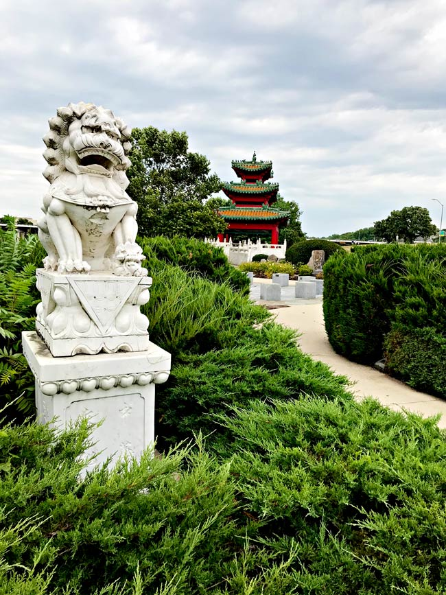 Entrance to the Robert D. Ray Asian Gardens in Des Moines, IA! | spiritedandthensome.com