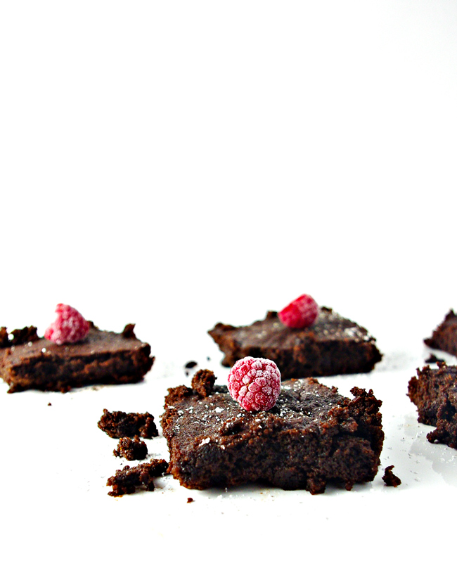 Gluten-Free Cake Brownies are light and fluffy and deliciously crumbly!   spiritedandthensome.com