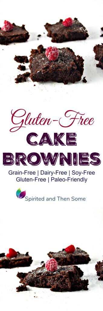 Gluten-Free Cake Brownies are utterly delicious, paleo-friendly, grain-free, dairy-free, and soy-free, too! | spiritedandthensome.com