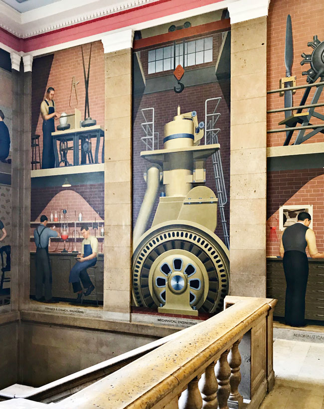 Grant Wood murals in Parks Library at Iowa State University in Ames, Iowa! | spiritedandthensome.com