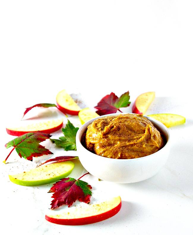 Paleo Pumpkin Pie Dip is delicious vegan and paleo! Ready in minutes! | spiritedandthensome.com