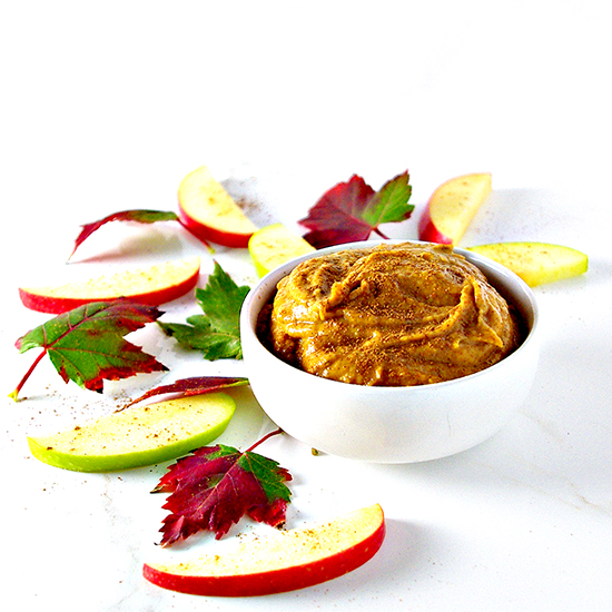 Paleo Pumpkin Pie Dip oozes delicious fall flavors like cinnamon and allspice! DF + GF + VG + Paleo! | spiritedandthensome.com