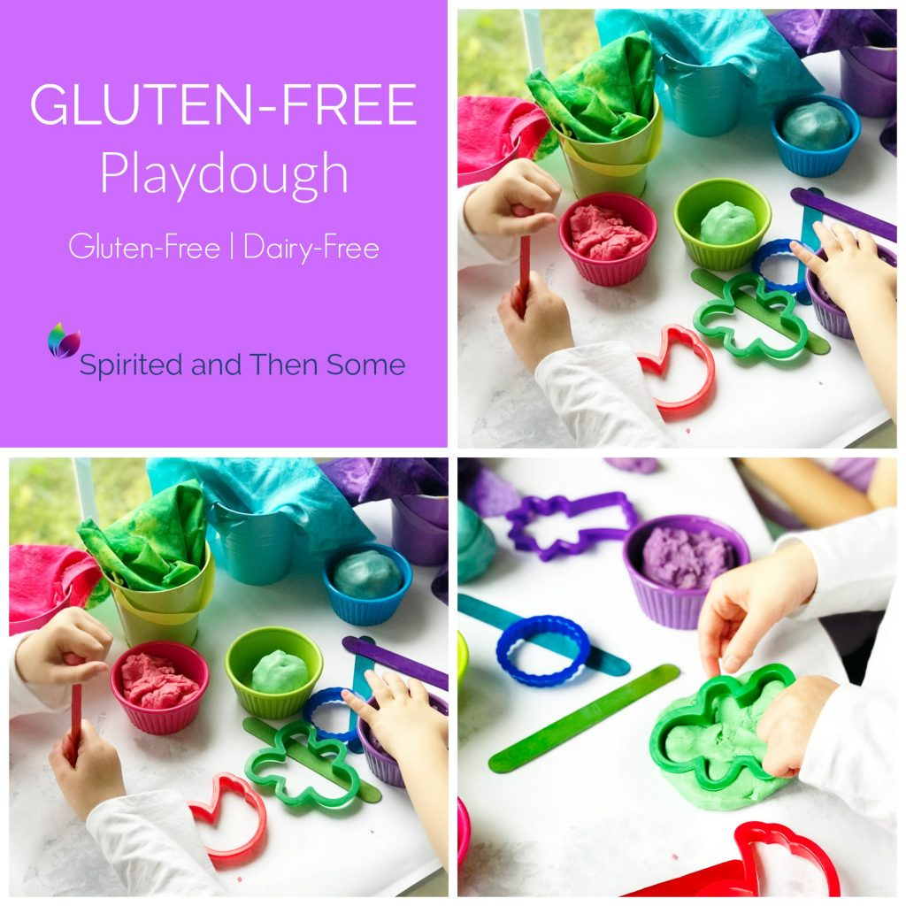 This Gluten-Free Playdough recipe comes with countless variations for hours of open-ended play opportunities! | spiritedandthensome.com
