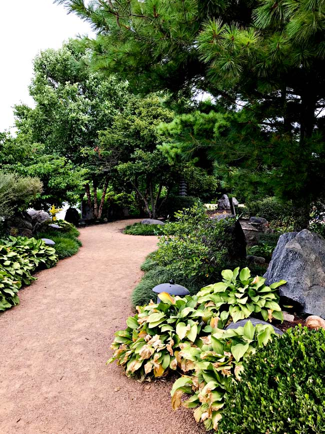 Walk path in the Robert D. Ray Asian Gardens in Des Moines, Iowa! | spiritedandthensome.com