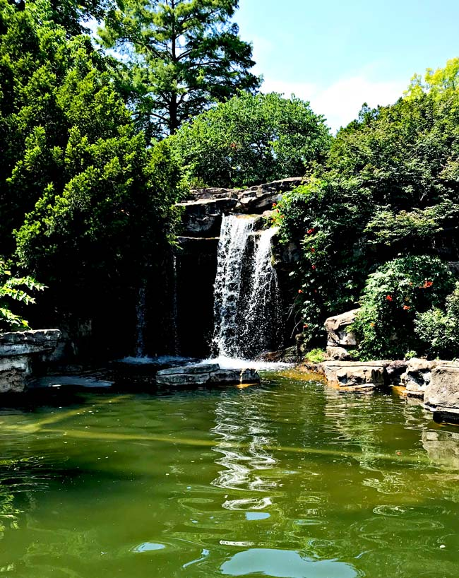 Waterfall at St. Louis Zoo in St. Louis, Missouri! | spiritedandthensome.com