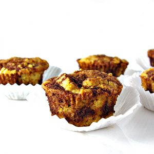 Cinnamon Swirl Muffins are warm and fluffy and gluten-free, grain-free, dairy-free, and paleo-friendly!   spiritedandthensome.com