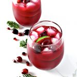 Cranberry Pomegranate Margaritas are the perfect festive winter holiday margarita recipe! GF and VG! | spiritedandthensome.com