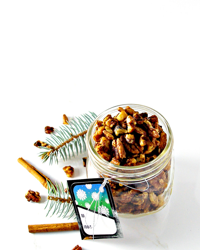 Maple Candied Mixed Nuts are paleo-friendly, the perfect Christmas treat, and leave your kitchen smelling delightful! | spiritedandthensome.com