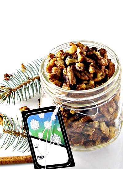 Maple Candied Mixed Nuts are deliciously gluten-free, ready in under 45 minutes, and make a wonderful last-minute gift idea! | spiritedandthensome.com