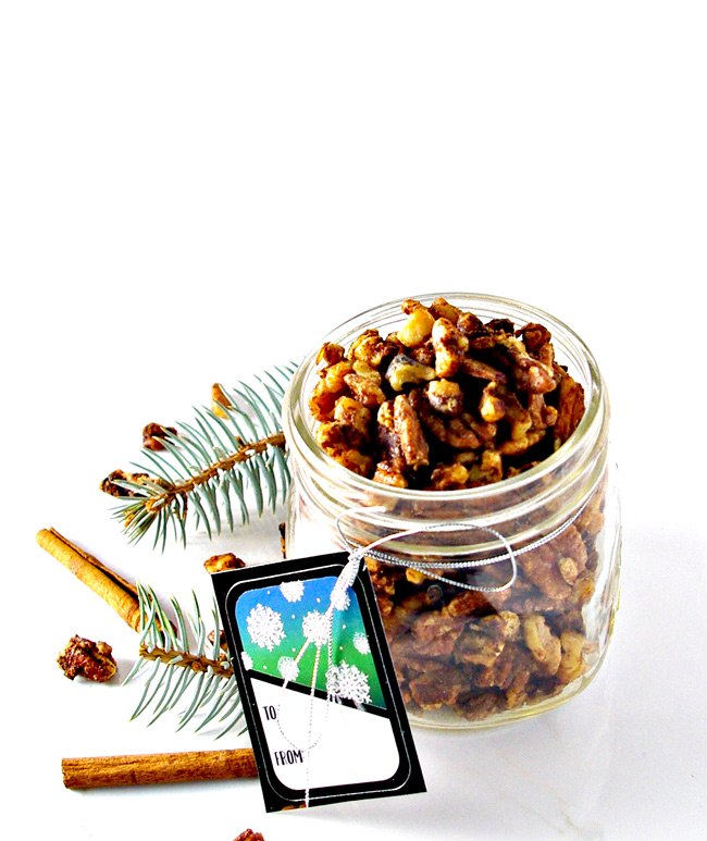 Maple Candied Mixed Nuts are deliciously gluten-free and the perfect Christmas treat or last-minute gift idea! | spiritedandthensome.com